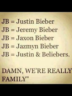 We're all a family:)