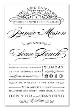 Affordable invites invitation wording wedding and wedding custom typography wedding invitation design stopboris Gallery