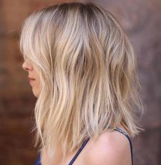 Long Brown Blonde Bob