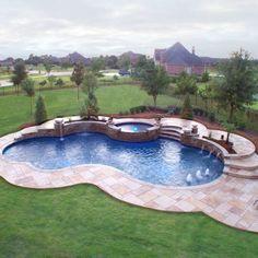 Backyard Pool Landscaping, Backyard Pool Designs, Swimming Pools Backyard, Swimming Pool Designs, Lap Pools, Indoor Pools, Pool Decks, Landscaping Ideas, Backyard Ideas