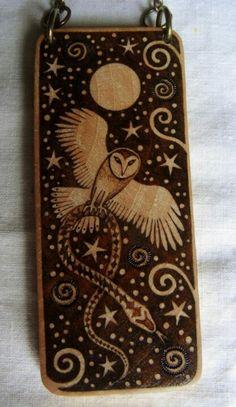 Owl Magic - Hug the Tree Pyrography
