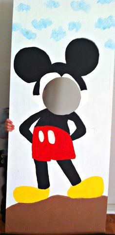 # Mickey Mouse Wooden Cut-out # Birthday Party Ideas