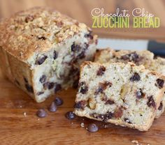 It's officially zucchini season and I'm loving it! It all started last week when a friend gave me a huge – organically grown no less- zucchini from … Chocolate Chip Zucchini Bread, Zucchini Bread Recipes, Quick Bread Recipes, Cake Cookies, Cupcake Cakes, Cupcakes, Sweets Recipes, Bread Baking, Delicious Desserts