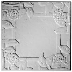 The open center of this traditional plaster ceiling tile is designed to accommodates chandeliers, recessed lights, sprinkles or vents. Traditional Tile, Traditional Interior, Interior Ceiling Design, Ceiling Tiles, Commercial Interiors, Tile Design, Plaster, Spanish, Lights