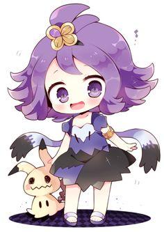 acerola y mimikyu Pokemon Waifu, Pokemon Alola, Pokemon People, Pokemon Memes, Pokemon Cards, Pokemon Stuff, Pikachu, Kawaii Anime, Chibi Kawaii