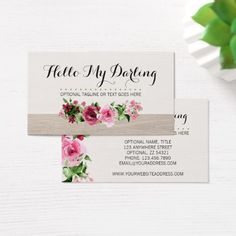 Shabby chic pink roses on rustic country barn wood business card shabby chic pink roses on rustic country barn wood business card wood business cards business branding and business cards reheart Image collections