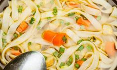 Relax while the slow cooker does the job . Here's the best chicken noodle soup Slow Cooker Soup, Slow Cooker Recipes, Crockpot Recipes, Soup Recipes, Cooking Recipes, Best Chicken Noodle Soup, Beef Stroganoff, Meal Prep, Food And Drink