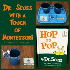 Dr. Seuss with a Touch of Montessori (Creating language activity trays using free Hop on Pop printables)
