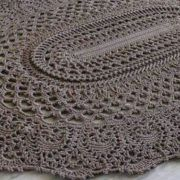 Вязаный овальный коврик. Схема вязания крючком