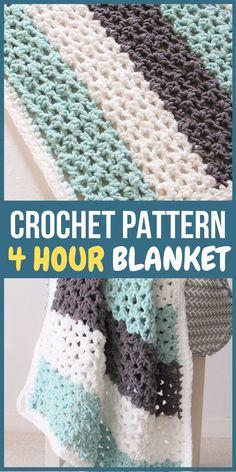 Picot Crochet, Crochet Gratis, Manta Crochet, Crochet Yarn, Crochet Blankets, Knitting Baby Blankets, Crochet Baby Blankets, Crochet Baby Stuff, Chunky Crochet Scarf