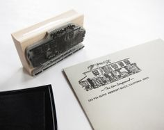 custom house/return address stamp by scout's honor co.