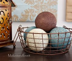 Twine Balls Tutorial.  I believe I have some twine laying around doing nothing...may as well make something with it
