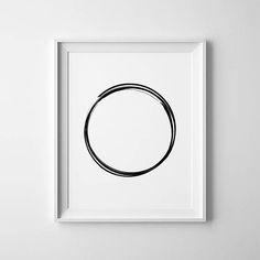 Karma Symbol Karma Wall Art Karma Circle Circle Print
