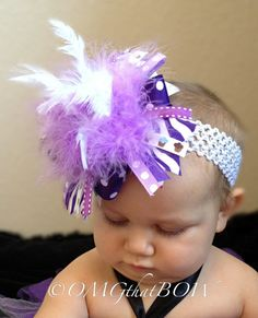OMG that LavenderOver The TopMod Bowbaby by OMGthatBOW on Etsy, $15.00