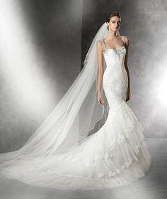 Prusia, robe de mariée en tulle et silhouette sirène