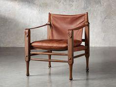 Safari Leather Chair | Arhaus Modern Farmhouse Interiors, Modern Farmhouse Design, Living Room Chairs, Living Room Furniture, House Furniture, Furniture Ideas, Leather Counter Stools, Buy Chair, Minimal Decor