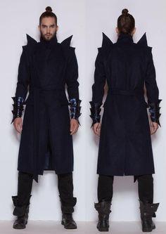 Shredder look. Future Fashion, Futuristic Clothing, Inspired, Prometheus, futuristic fashion, DORAMOJZES, man in black, sci-fi clothing, future, fashion by FuturisticNews.com