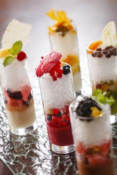 Shaved ice(served with flavored syrup and fruits)by The strings Intercontinental Tokyo VOGUE