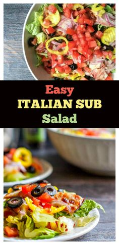 Easy Italian Sub Salad - a lower carb alternative without the bun!