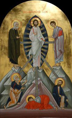 "IC.XC__ "" η Μεταμορφωση"" ""Transfiguration."" aug 6 ( Festival icon. 2013 by Olga Shalamova & Philip Davydov"