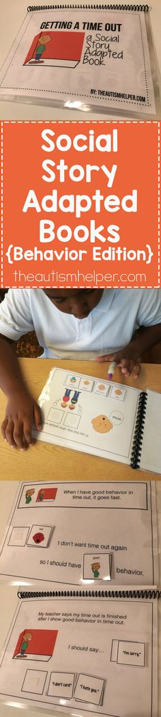 They say practice makes perfect- I think modeling & role play have a lot to do with it as well! Social Story Adapted Books for the win    From theautismhelper.com #theautismhelper