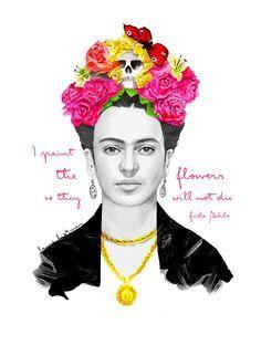 Frida kahlo print by cymraes on etsy, £ frida kahlo cartoon, diego Diego Ribera, Frida Kahlo Cartoon, Frida And Diego, Ohh Deer, Mexican Artists, Boho, Pop Art, Illustration Art, Art Prints