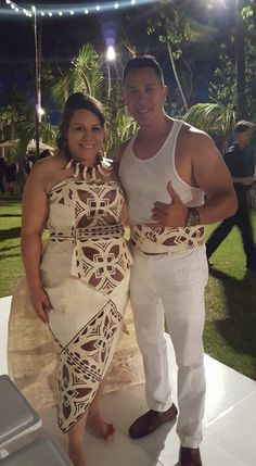 My custom made tapa dress flown in from savai'i Samoa and made by Meilin from missing Polynesia in Hawaii. This was made for my siva Samoa.