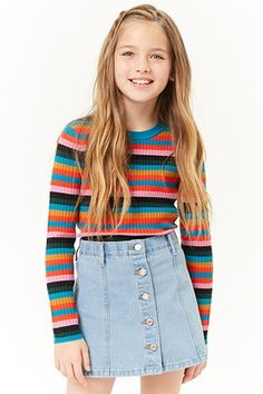 Mädchen Denim A-Line Rock (Kinder), Source by tween outfits casual Girls Fashion Clothes, Kids Outfits Girls, Cute Girl Outfits, Tween Fashion, Cute Outfits For Kids, Cool Outfits, Fashion Outfits, Summer Outfits, Teenage Clothing