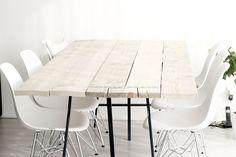 tafel steigerhout, steigerhouten tafel, diy, zelfgemaakt, houten tafel, moderne tafel, scandinavische tafel