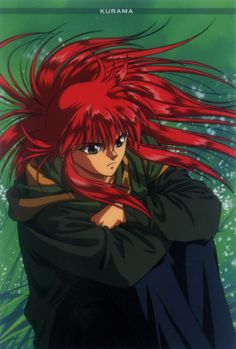 Tags: Anime, Yu Yu Hakusho, Kurama, Official Art