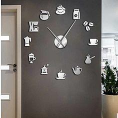 Kitchen Ideas, Kitchen Decor, Kitchen Wall Clocks, Candy Crafts, Coffee Shop, Condo, New Homes, Wall Decor, Bedroom