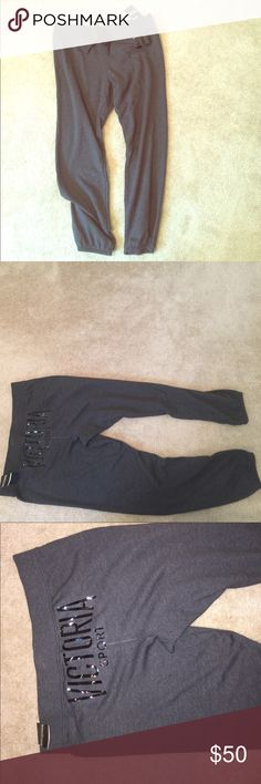 🔥NWT Victoria's Secret sport Large sweat pants 🔥 NWT, large. Super soft and comfy. Been sitting in the back of my closet!! Make me an offer!! Victoria's Secret Pants Track Pants & Joggers
