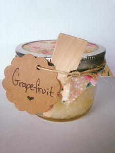 Grapefruit Sugar Scrub {8oz} - so many benefits for your skin. Grapefruit essential oils are known to cleanse and detoxify. Also known to increase collagen production, tightening skin and reducing puffiness. Reduces blemishes and the look of large pores. And more!!