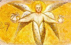 ángel con las 7 copas del apocalipsis. Itzel Miron