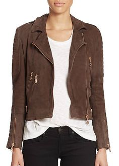 Doma Suede Motorcycle Jacket