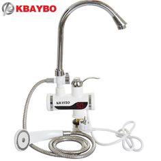 3000 와트 인스턴트 전기 샤워 온수기 인스턴트 뜨거운 수도꼭지 주방 전기 탭 물 난방 순간 온수기