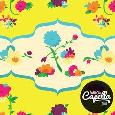 Estampa Floral amarelo - por Patrícia Capella http://patriciacapella.com/floral_amarelo.php