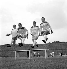 Training on the pitch with the terraces behind. - The Valley