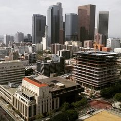 View from Downtown Los Angeles City Hall Observation Deck