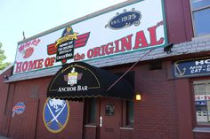 """Eat Buffalo wings in Buffalo You sort of have to go to Anchor Bar, the famed """"birthplace"""" of Buffalo wings. And when you're done enjoying wings (and live jazz!), walk it all off on an architecture tour of seven Frank Lloyd Wright structures."""