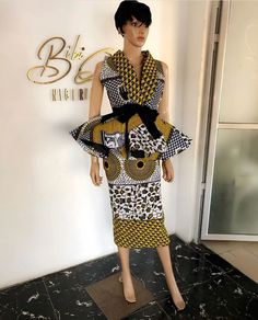 40 Latest Peplum Ankara Skirt and Blouse Styles to Rock This Year African Fashion Ankara, African Print Dresses, African Print Fashion, Africa Fashion, African Dress, Fashion Prints, African Prints, Fashion Styles, African Attire