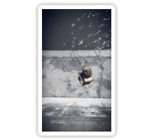 Loneliness of a fisherman Sticker
