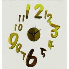 2017 New Diy Acrylic Mirror Clock Wall Clocks Horloge Reloj De Pared Large Decorative Watch Quartz Living Room Modern Needle Mirror Wall Clock, Wall Clocks, Modern Decor, Modern Design, Digital Safe, Acrylic Mirror, Living Room Modern, Antique Art, Wall Sticker