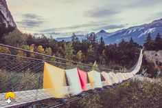 Die Berge im schönen Wallis