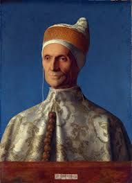 "Name: Portrait of Doge Leonardo Loredan Artist: Giovanni Bellini Dimensions: 2'0"" x 1'6"" Created: 1501 Location: National Gallery, London Subject: Leonardo Loredan  This painting is of Leonardo Loredan, a doge of Venice, in his robes of state. The painter, Bellini, is famous for revolutionizing Venetian painting style."
