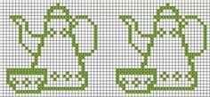 New Crochet Bracelet Friendship Pixel Art Ideas Cross Stitch Kitchen, Simple Cross Stitch, Cross Stitch Borders, Counted Cross Stitch Patterns, Cross Stitch Designs, Cross Stitching, Cross Stitch Embroidery, Broderie Simple, Crochet Patterns Free Women