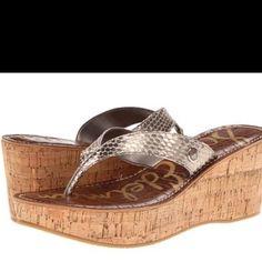 Sam Edelman Romy Sandals Sam Edelman Romy sandals. Light gold metallic leather. EUC. Only sign of wear is light on soles, worn a couple times. Sam Edelman Shoes