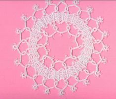 Bruges lace Crochet - looks like it's combined with tatting, pretty.