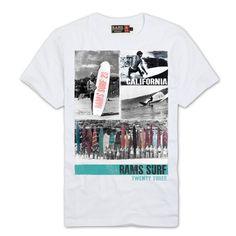 Camiseta Rams23 Jeans Surf blanco