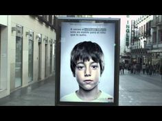 Very clever advertising!     This Ad Has a Secret Anti-Abuse Message That Only Kids Can See